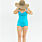 Women's Vintage One Piece Swimmers