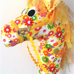 HOBBY HORSE - Sunshine - spring flowers on a vibrant yellow background