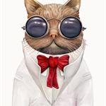Astro Cat 8X10 Archival Art Print