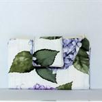 Fabric Wallet/Purse Summer 2015 Hydrangeas, with phone sleeve