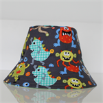 Boys Monsters Reversible Bucket Hat - 2-4 Years