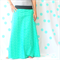 Ladies Green Geo Maxi Skirt - Size 12-14