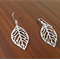 Simple Minimal Leaf Earrings in Silver - Perfect Gift, Mother's Day Gift