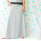 Ladies Grey Dotty Maxi Skirt - Size 12-14