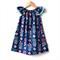 """Flutter Dress Size 4, 5 & 6  """"Dream Catcher"""" Navy, coral, teal, what a gem"""