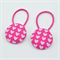 Button Hair Ties - pink hearts