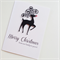 Our family to yours merry christmas black deer rudolph red nose card