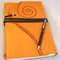 Large Leather Journal with Hand Torn Artist Paper and Spiral Detail