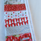 Christmas Table Runner - Christmas Red with soft neutral colours