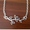 Silver leafy necklace, best friend, sister, gift