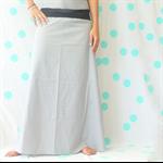 Ladies Grey Dotty Maxi Skirt - Size 12-14