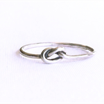 Tiny love knot ring,sterling silver ring, stacking ring