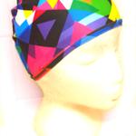 LYCRA SWIM CAP - Retro Rainbow