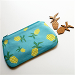 piney teal turquoise blue pineapple clutch purse