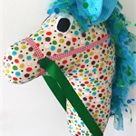 HOBBY HORSE - Charlie - a natural stud with mellow rainbow spots