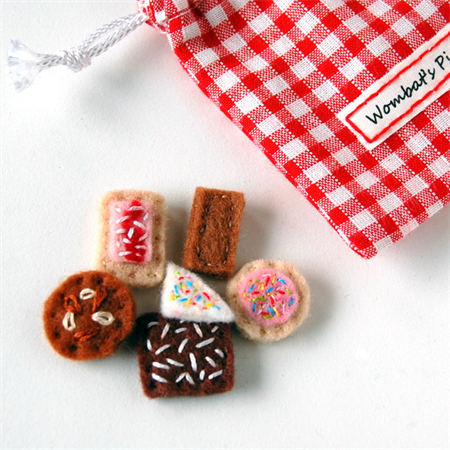 Miniature Favourite Australian Biscuits and Cakes Felt Food Set