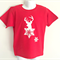 Snowflake Elk Red Boys T Shirt