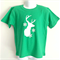 Snowflake Elk Green Boys T Shirt