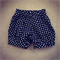 Mono Polka Shorts Black and White Size 2 Size 3 and Size 4