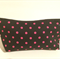 henry & stella hand sewn fully lined fabric makeup purse - hot pink spotty