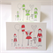 "6 x ""Christmas Friends"" Cards Red FREE POSTAGE"