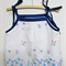Shoulder Ribbon Camisole Tops Butterfly and Blue Flowers