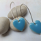 Cute Sky Blue Heart Earrings