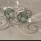 Tree of life earrings glass on silver tone stud Approx 14mm earring