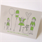 "6 x ""Christmas Friends"" Cards Lime green FREE POSTAGE"