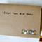 Enjoy your new home, hand made card, blank inside, OOAK