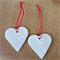 CLAY HEART TAGS DECORATIONS TEACHER GIFT CHRISTMAS EMBOSSED