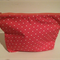 henry & stella hand sewn fully lined fabric makeup purse - little PINK heart
