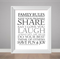 Family rules print, family poster, typography poster, rules to live by