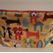 henry & stella hand sewn fully lined fabric large toiletry bag - doggy love
