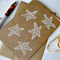 Starfish, hand made note card, blank, OOAK