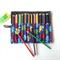 Large Robot Print Pencil Roll - holds 24 pencils, retro, blue, vintage, boys