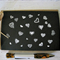Hearts, doodle, hand made card, blank inside, OOAK