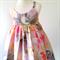 Pastel Floral Hummingbird Dress - size 2