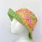 Apricot Hearts & Green Spots Reversible Bucket Hat - girls sizes 6mths - 8yrs