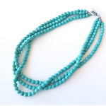 Coastal Howlite blue green turquoise necklace by Sasha and Max