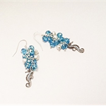 Gorgeous Silver and Aqua Seahorse Earrings