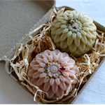 CUSTOM ORDER for KOZ Flower Design Vegetable Soaps In Gift Boxes.