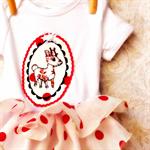 Girls Christmas onesie tutu style.  000 ~ 2