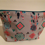 henry & stella hand sewn fully lined fabric makeup purse - dreamcatcher