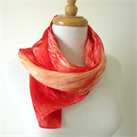 Hand dyed Silk Scarf - FREE SHIPPING  - Red Silk Scarf