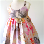 Pastel Floral Hummingbird Dress - size 2
