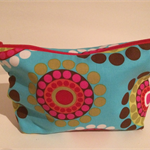 henry & stella hand sewn fully lined fabric makeup purse - sun catcher