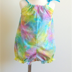 Girl's Rainbow Tie Dye Bubble Sun Suit Romper - Size 1