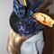 Pinnicles at Sunrise.SALE  3D sculptural headpiece Navy blue Yellow Races