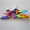 Rainbow Fabric Top Knot Ponytail Holders - Hair Ties